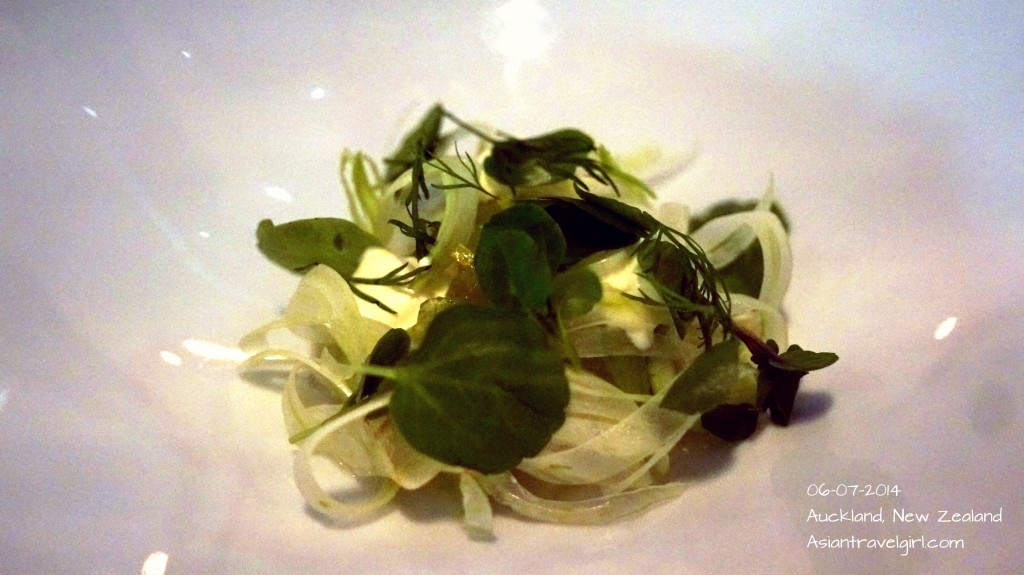 """The First"" Snapper Ceviche- crab, apple jelly, verjus,shaved fennel, creme fraiche @The French Cafe"
