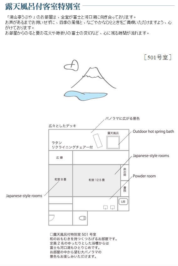 湖山亭 富士山 ubuya mt fuji view