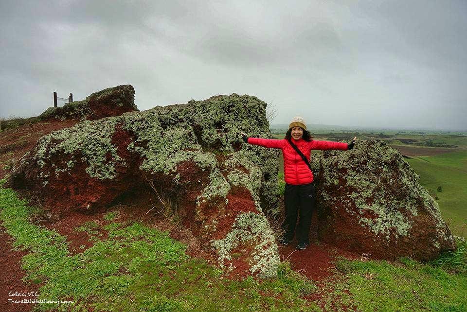 澳洲 火山 red rock colac