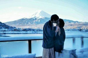 The Proposal in front of Mt Fuji @ Lake Kawaguski