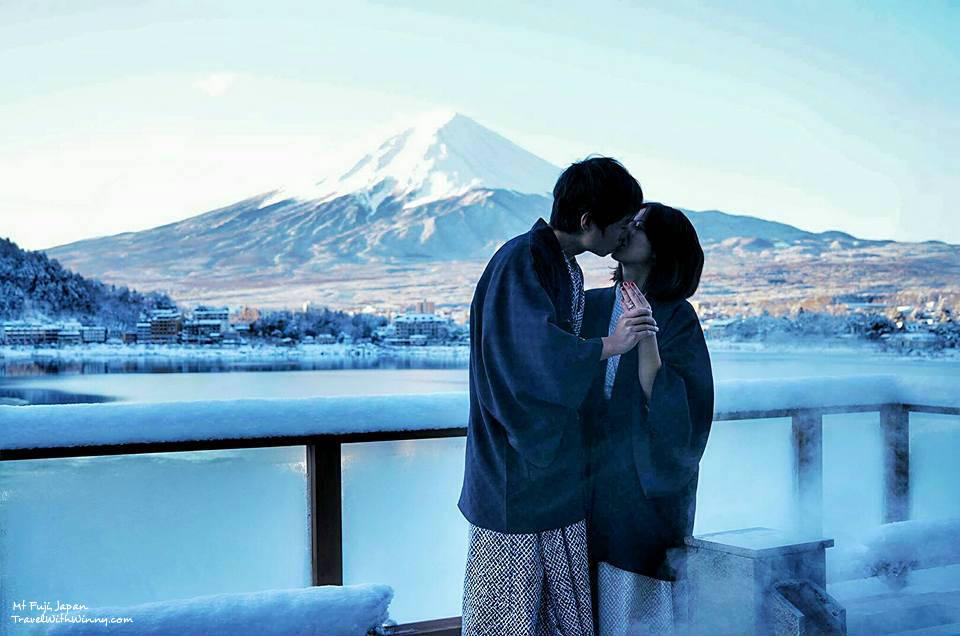 Fuji onsen 富士山 求婚 河口湖