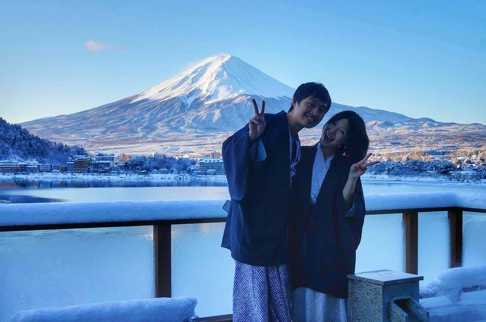 Fuji onsen 富士山 求婚 河口湖 最美的富士山飯店