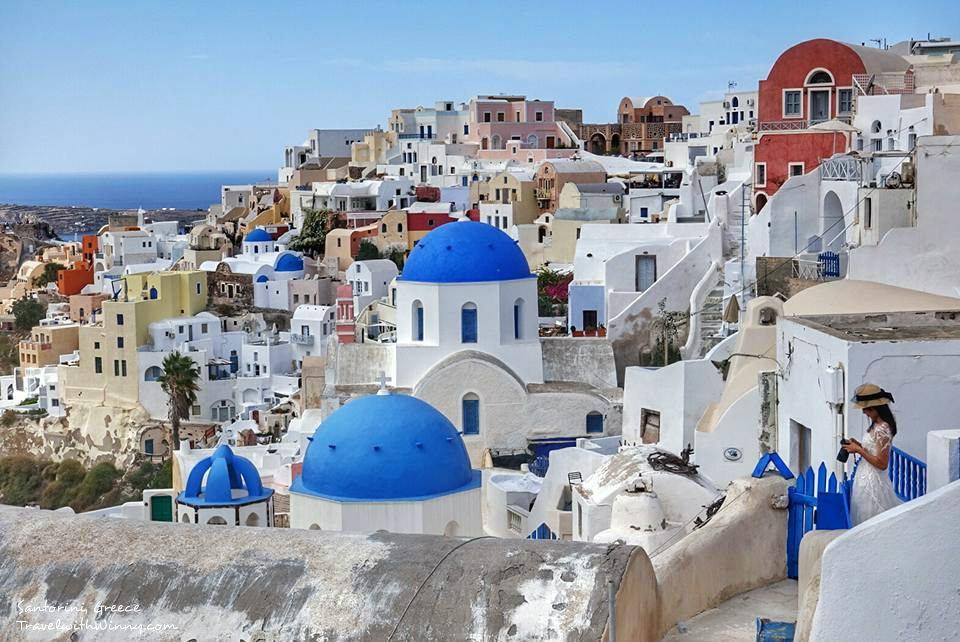 oia 希臘 藍頂教堂