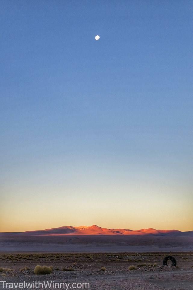 Laguna Colorada 粉紅湖 夕陽 sunset