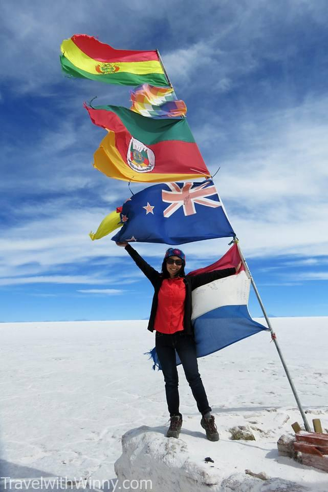 New Zealand Flag Uyuni