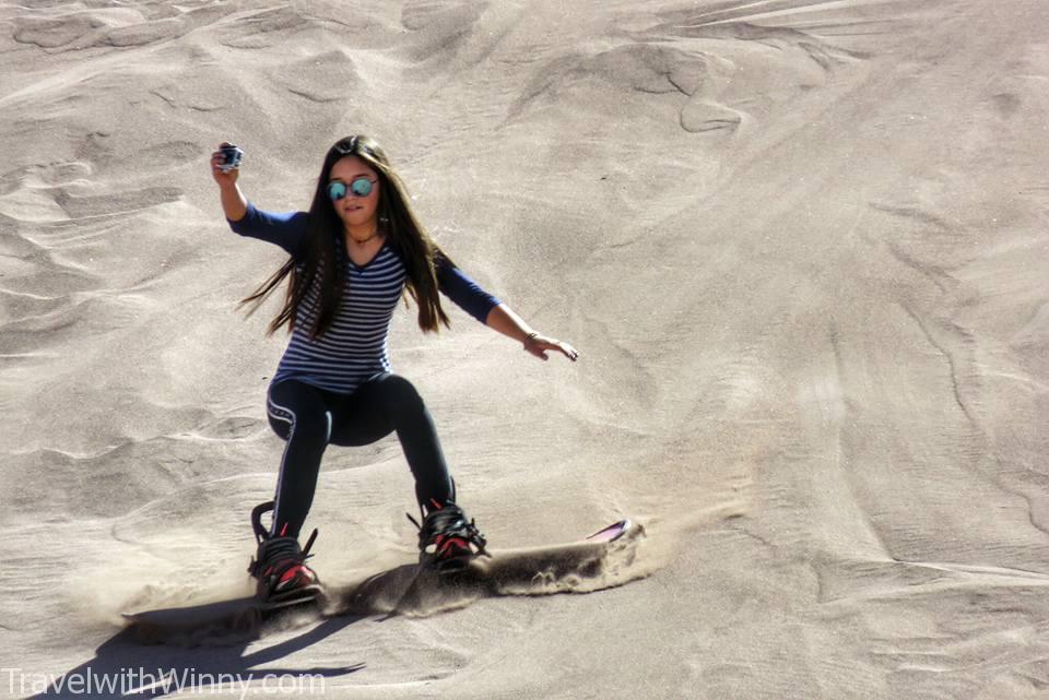 sandboarding 沙漠 滑板