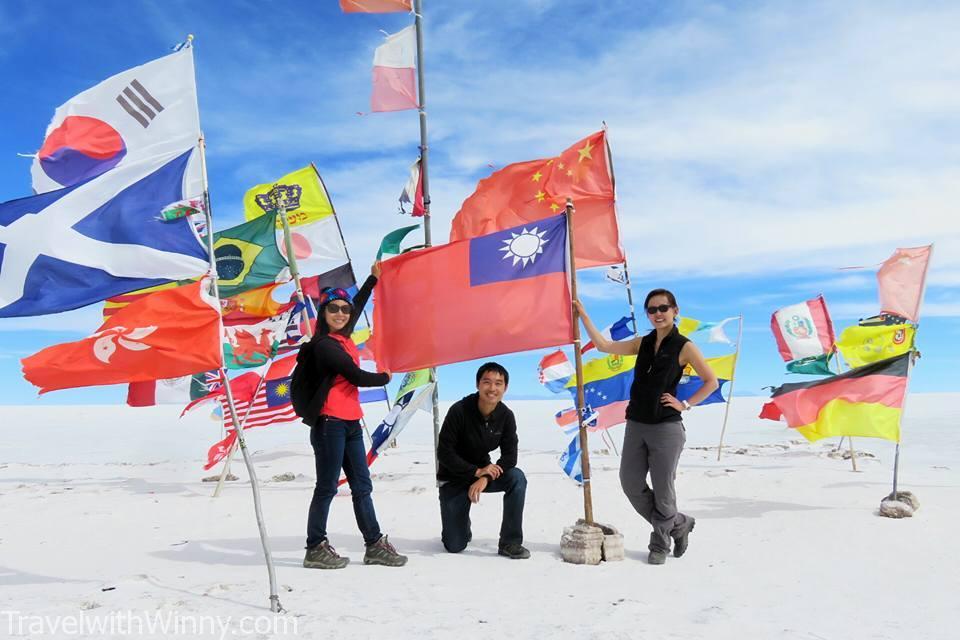 台灣國旗 玻利維亞 鹽湖