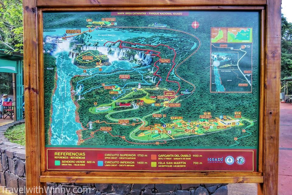 伊瓜蘇瀑布 igauzu fall experience 阿根廷 argentina, Map