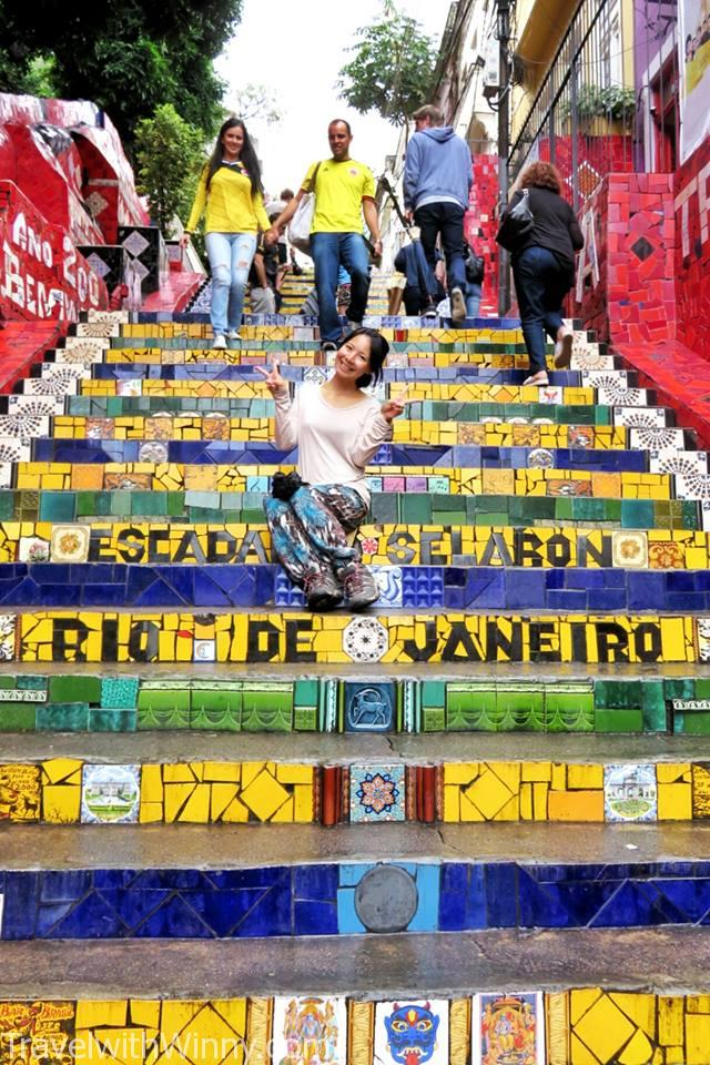 selaron steps 塞拉隆階梯, travelling in Rio