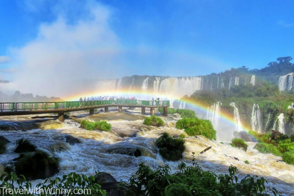 伊瓜蘇瀑布 igauzu fall 巴西 brazil, beautiful rainbow. devil's throat lookout