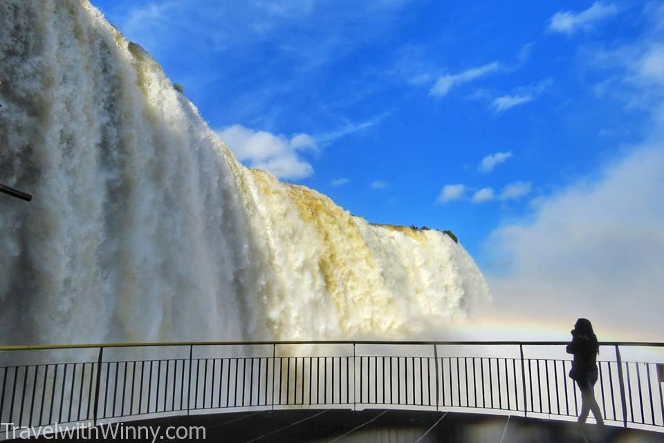 伊瓜蘇瀑布 igauzu fall 巴西 brazil, close Iguazu Falls, Wet