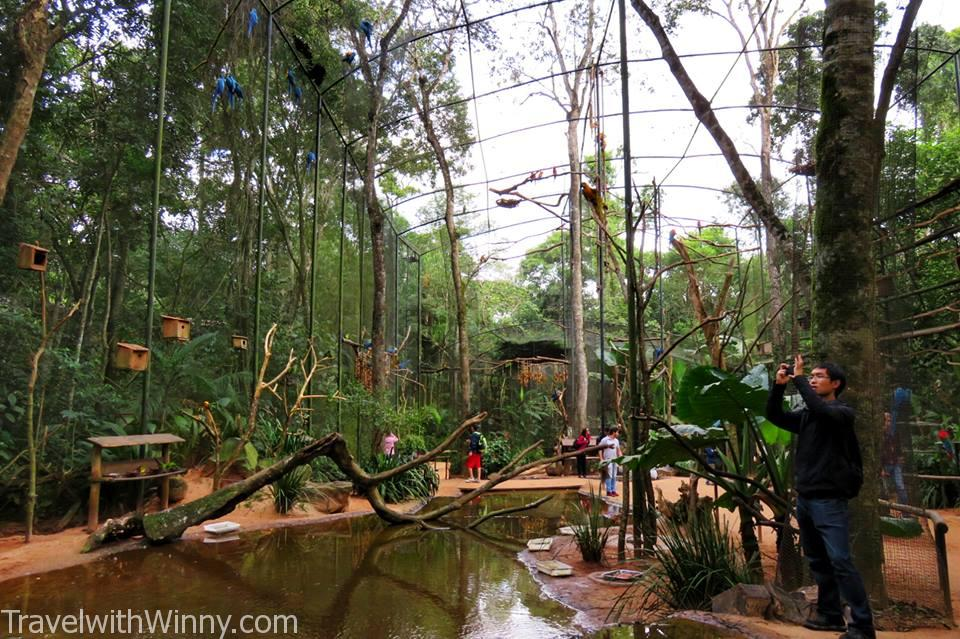 huge aviary in bird park
