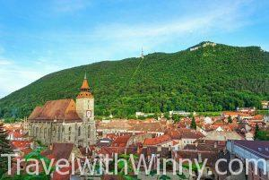 Transylvania brasov 中古世紀小鎮