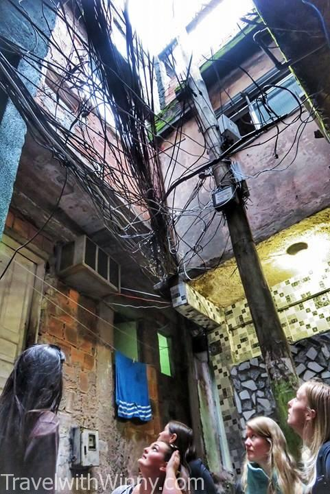 rio de janeiro, favela, powerlines