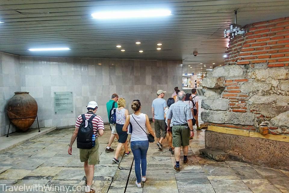 serdika metro sofia 地鐵 古蹟