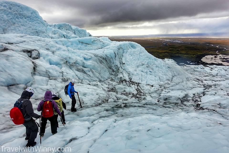 Falljökull Glacier 冰島 冰川健行 Iceland Glacier hike