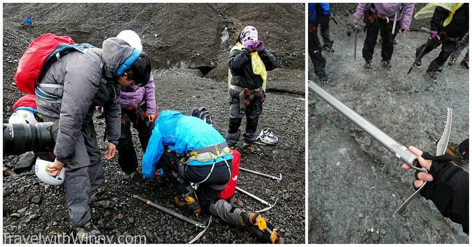 ice climbing gear 冰川健行 準備
