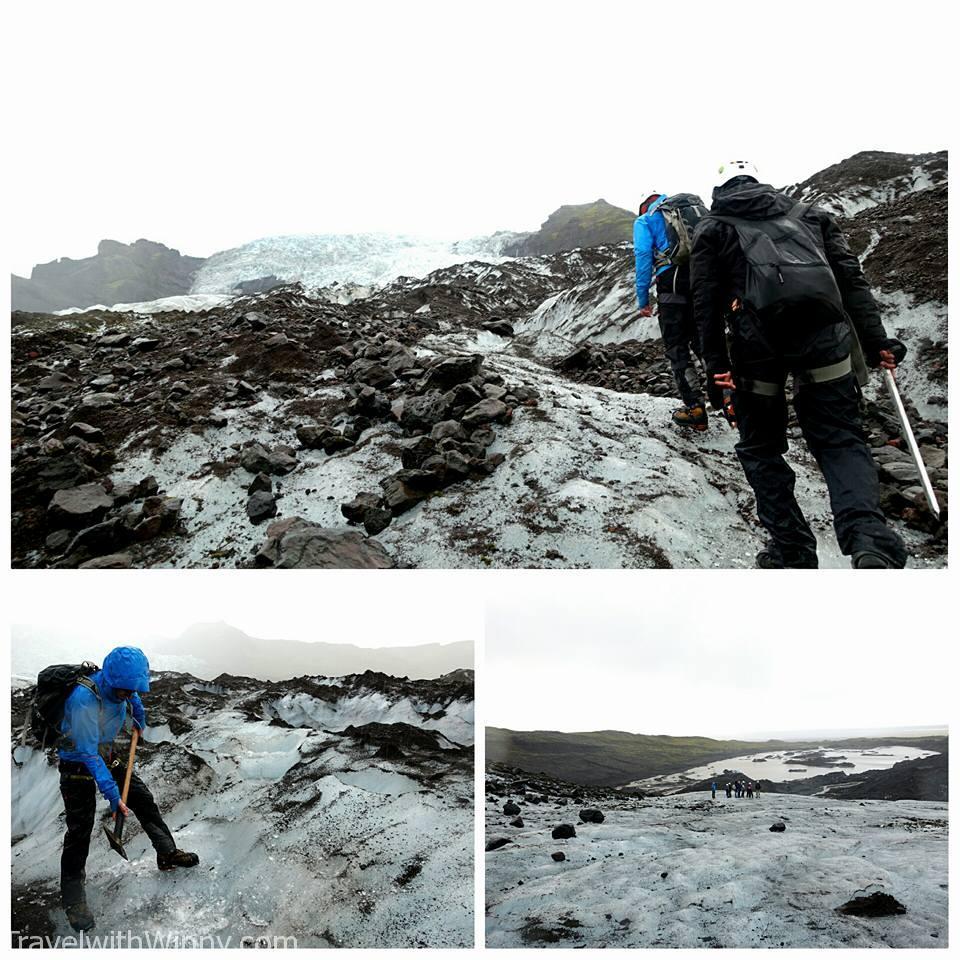 Falljökull Glacier 冰島 冰川健行
