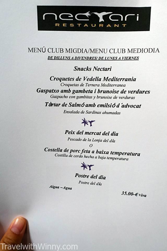 nectari barcelona menu, Barcelona Michelin lunch