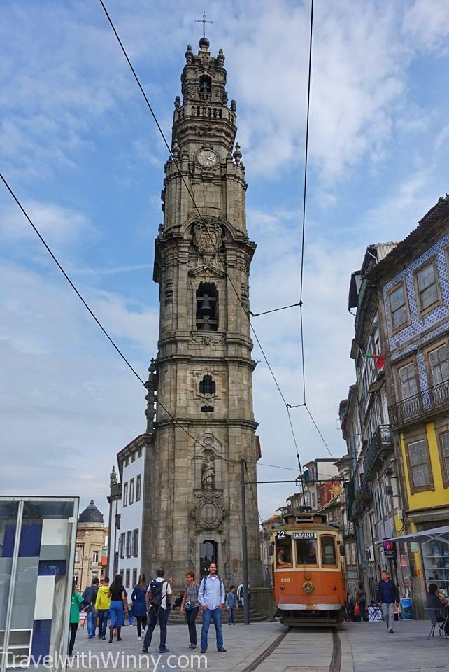 Porto church tram