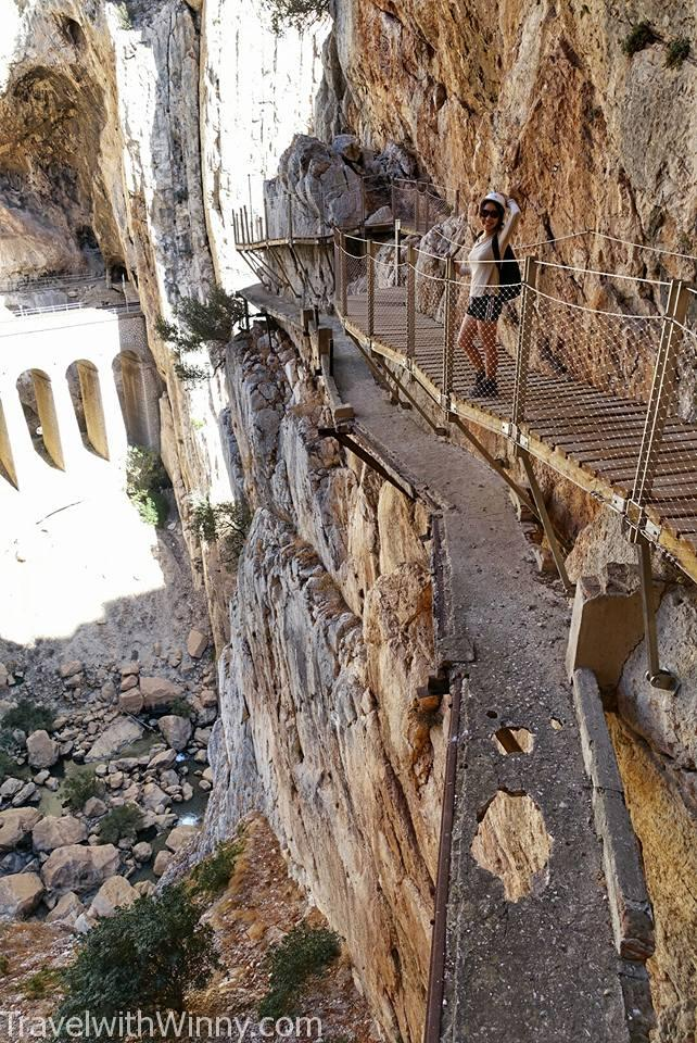 Caminito del Rey 國王的步道 deteriorated path