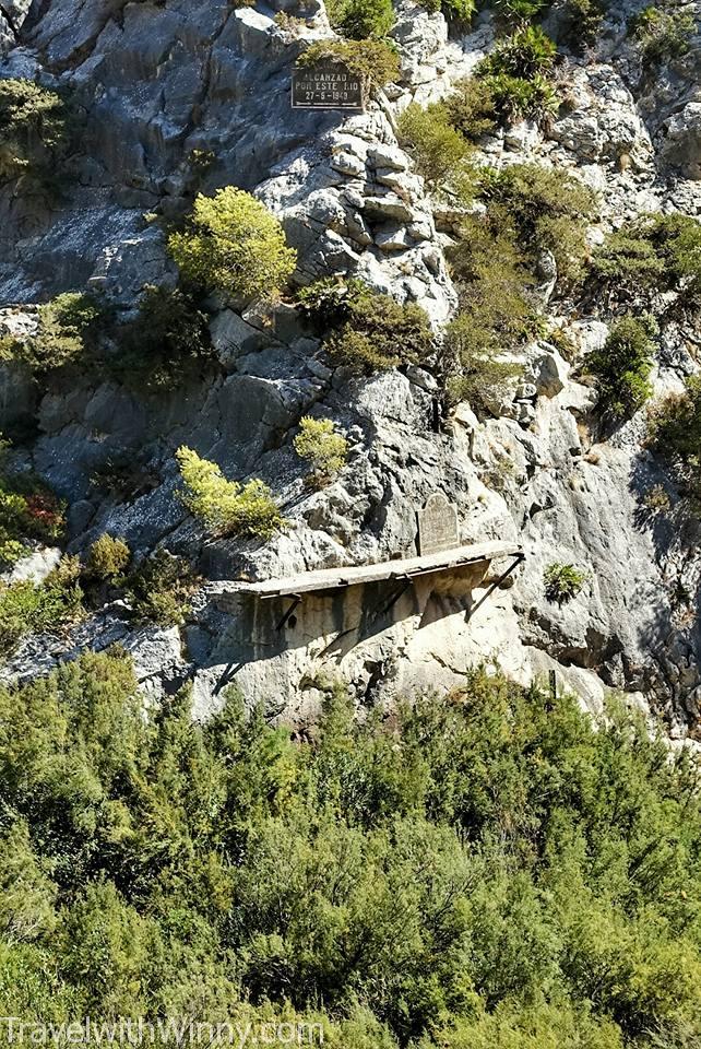 墓碑 grave Caminito del Rey 國王的步道