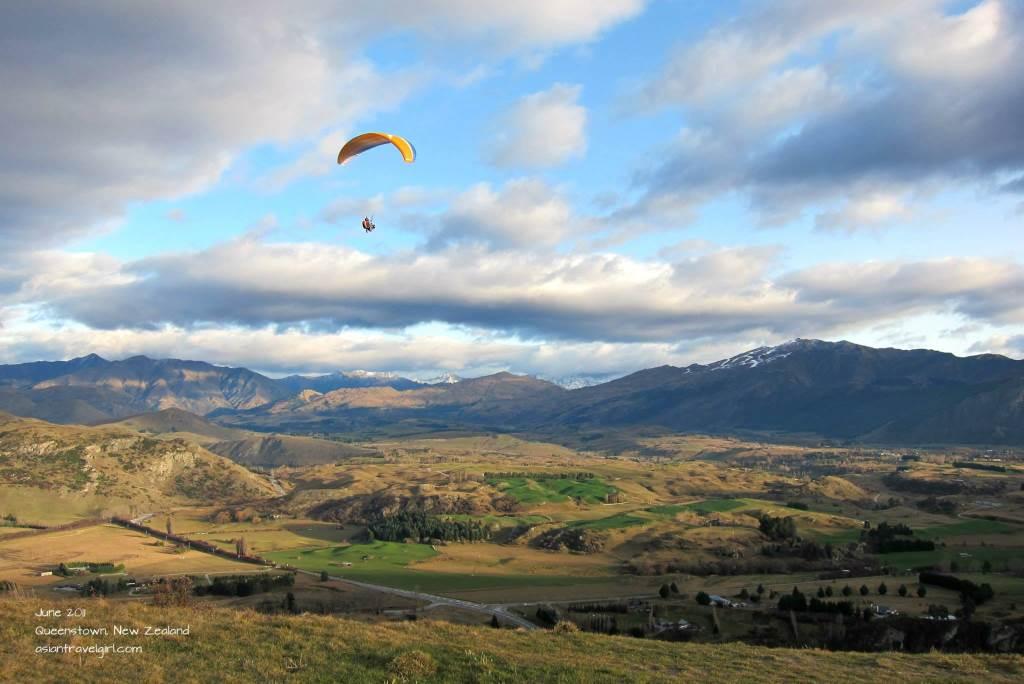 紐西蘭 皇后鎮 滑翔翼