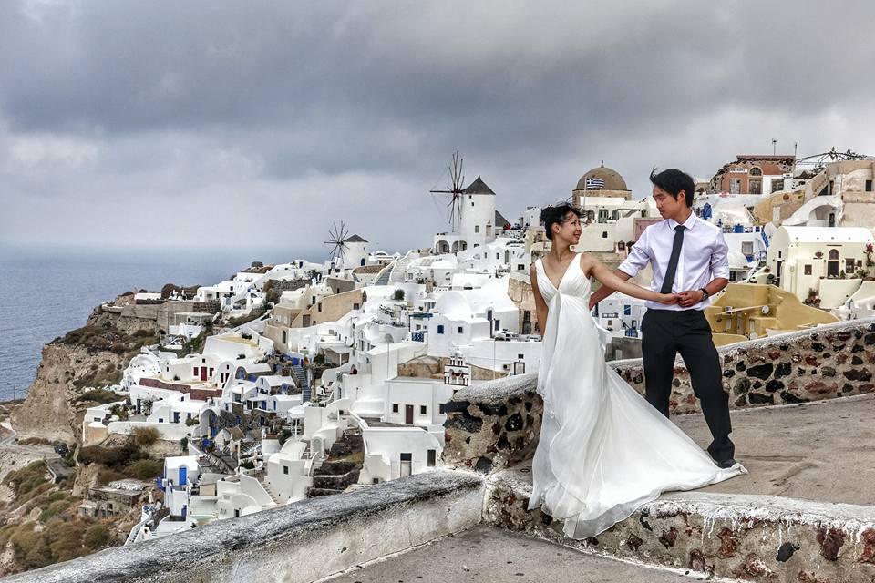 希臘 自助婚紗 Santorini Wedding