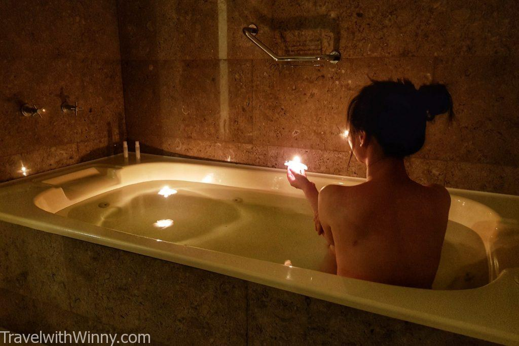浴缸 蠟燭 candle light bath