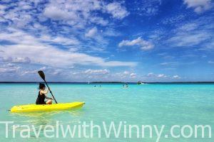 【墨西哥】猶如身在加勒比海的人間仙境:巴卡拉爾 Bacalar 七彩湖