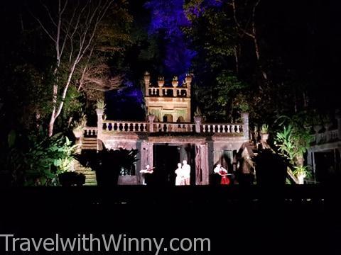 凱恩斯天空之城 帕羅尼拉公園 Paronella Park 夜晚 night