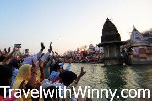 赫爾德瓦爾 haridwar Har Ki Pauri ganga arti 恆河夜祭