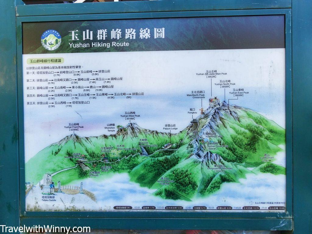 玉山地圖 yushan trail map