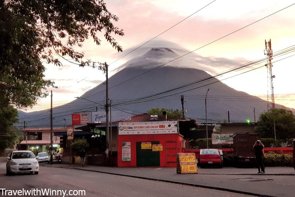 arenal volcano sunset 阿雷納爾 火山