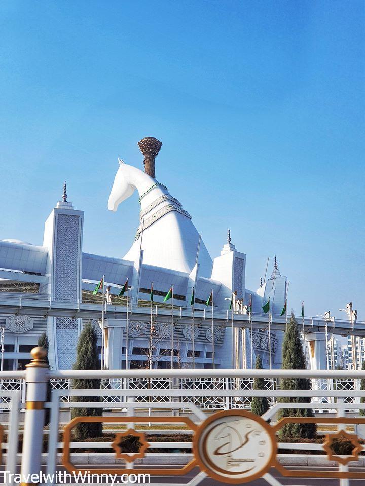 ashgabat olympic stadium mascot