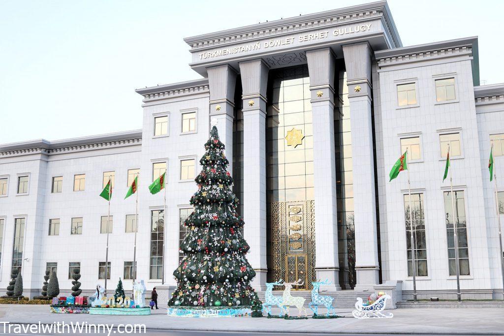 ashgabat government building white marble