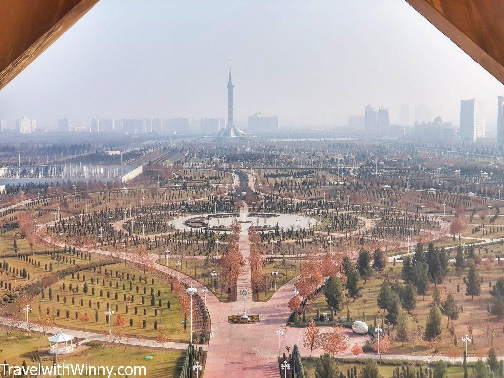 the view of ashgabat