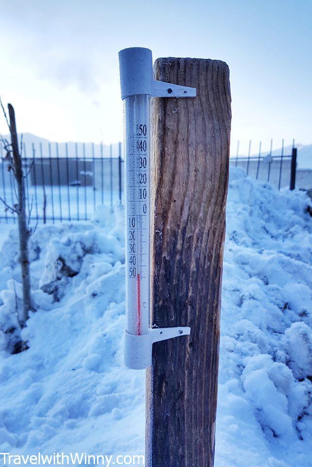 零下天氣 below frozen temperature