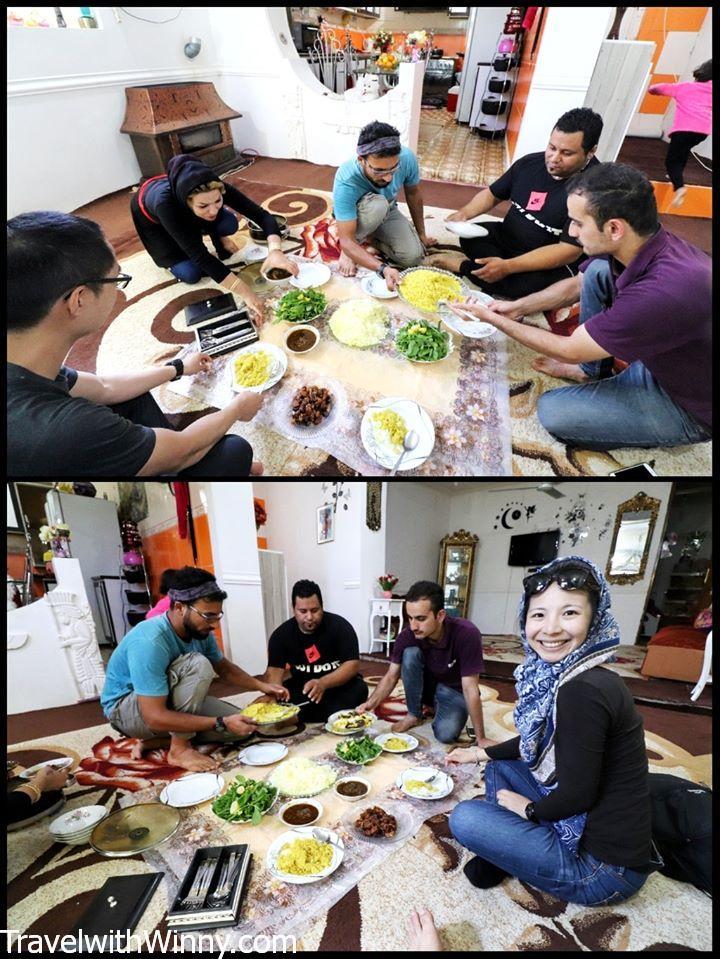 iran homestay 伊朗 寄宿家庭 食物 food