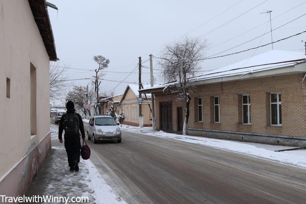 Walking to Bus station