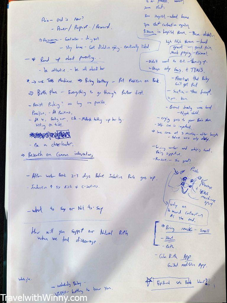 手寫筆記 hand written notes