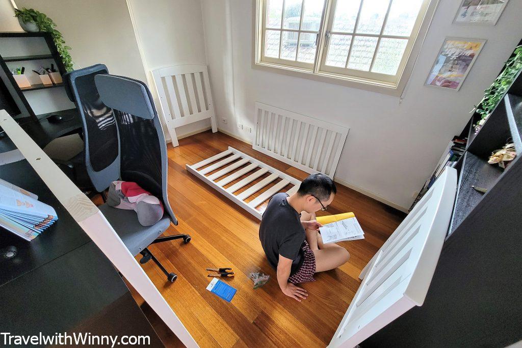 嬰兒床組裝 tasman cot