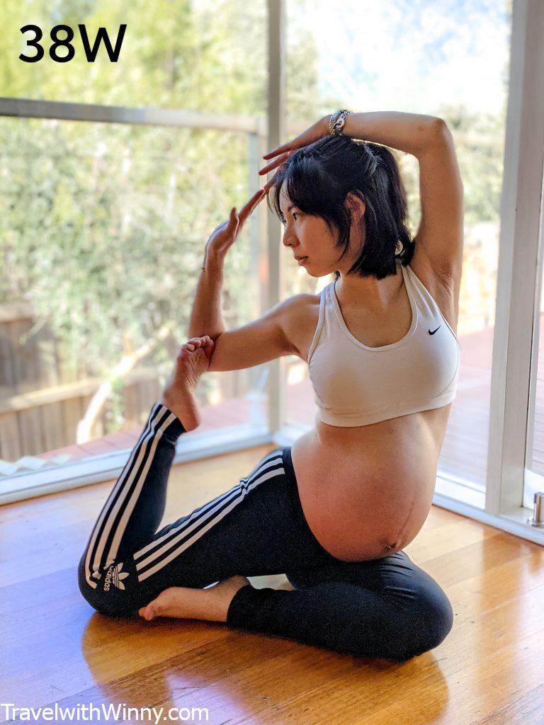 孕婦瑜珈 pregnancy yoga 懷孕 38 肚子 weeks