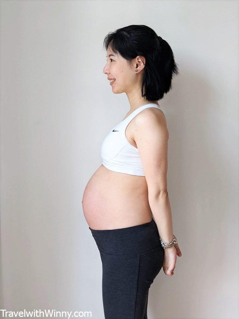 懷孕 34 週 肚子 34 weeks pregnant belly size 產前憂鬱