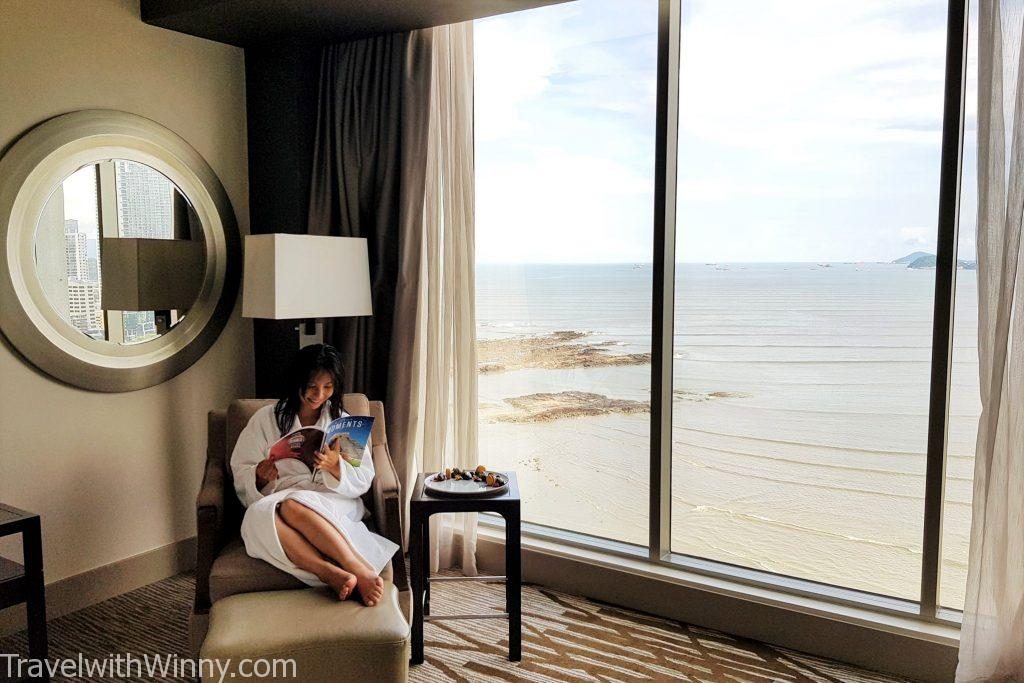 hilton room with sea view 海景 房間