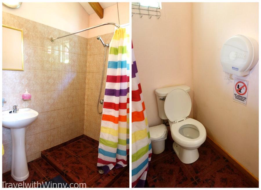 浴室也非常的乾淨! 打掃阿姨每天都會很用心地打掃廁所 (公廁也是!)