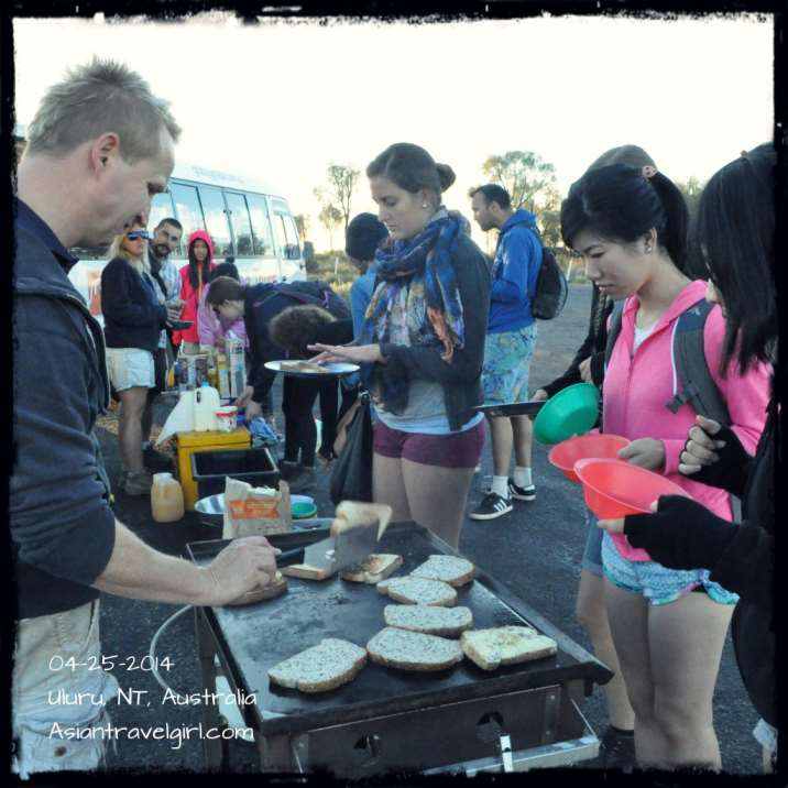 Cooking breakfast on the go