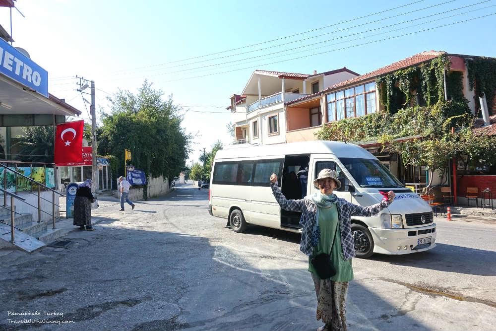 denizli to pamukkale bus 公車