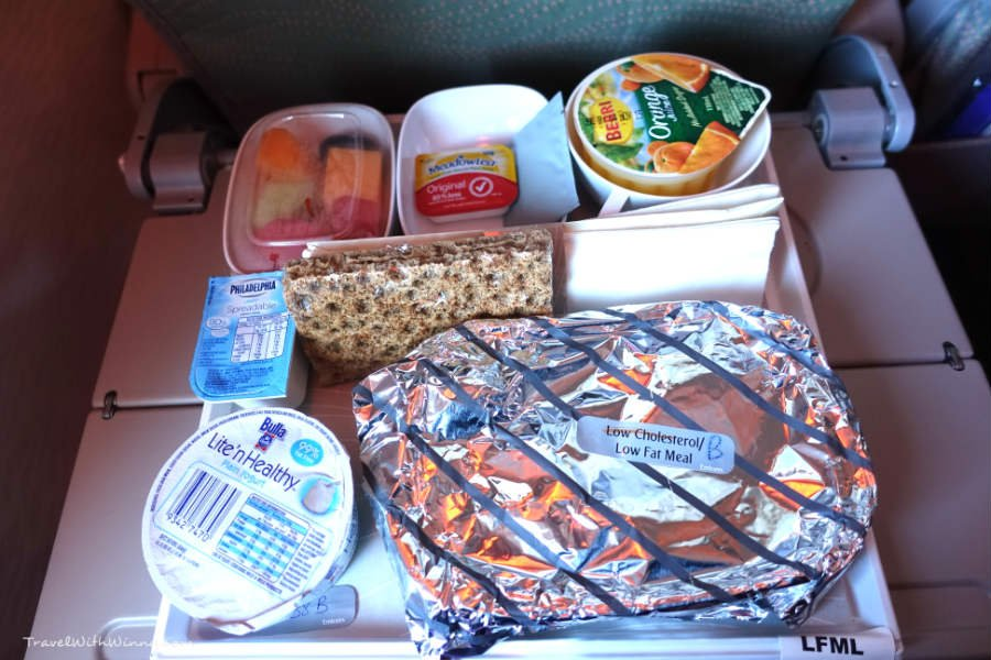 Emirates low fat low cholesterol meal