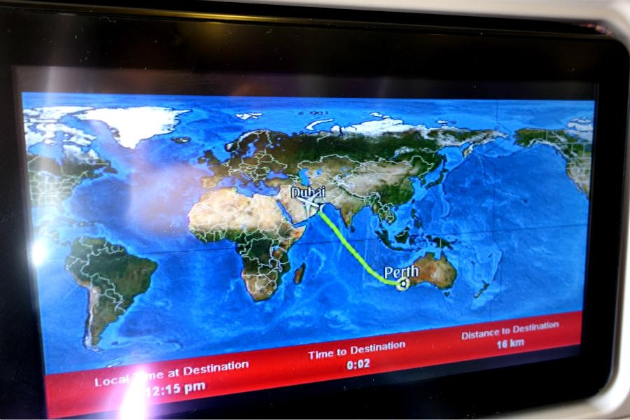 The first leg of the journey- Perth to Dubai.